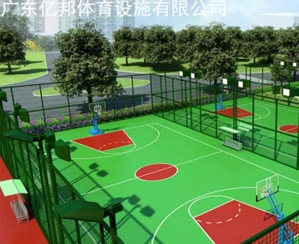 篮球塑胶球场
