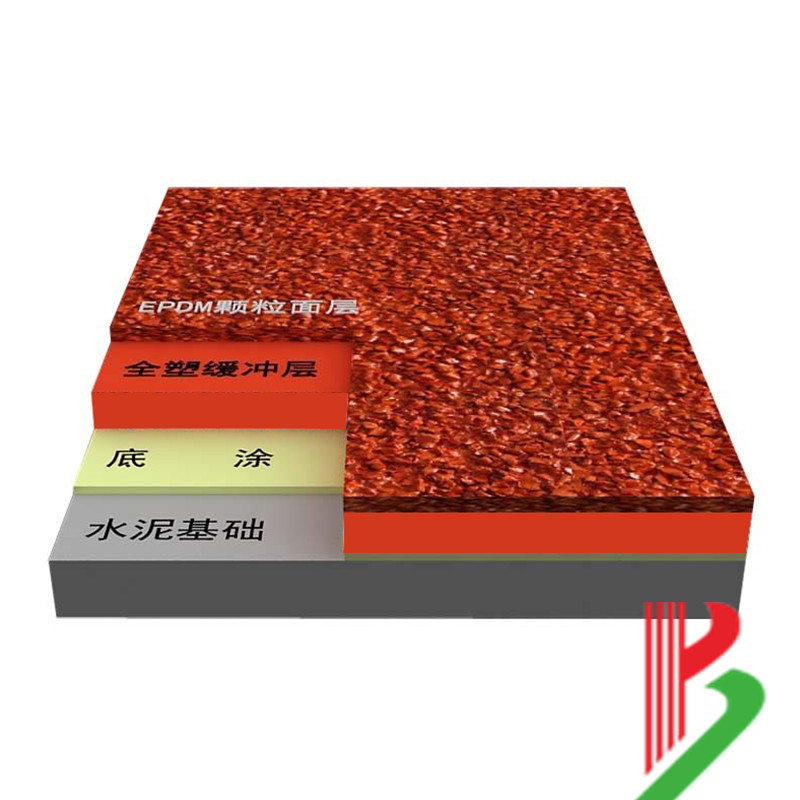 杭州全塑型SPU自结纹跑道