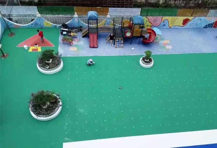 深圳龙岗幼儿园 EPDM橡胶地面